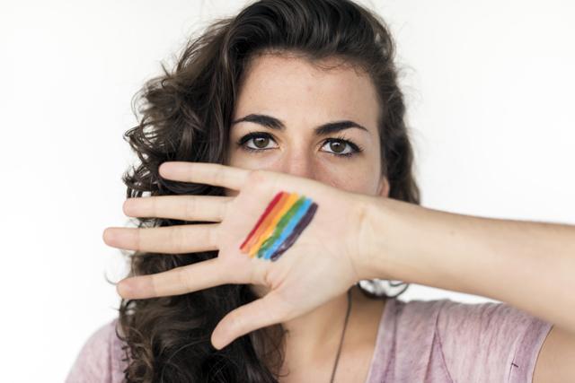 mujer bisexual o lesbiana orgullo gay