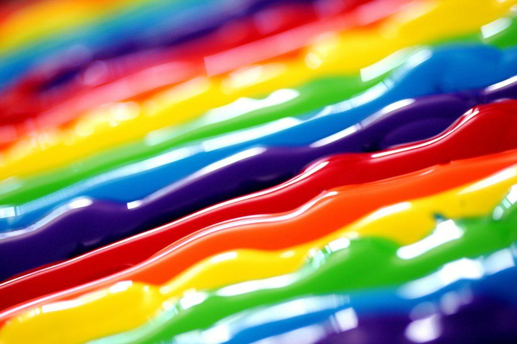 arcoiris pintura