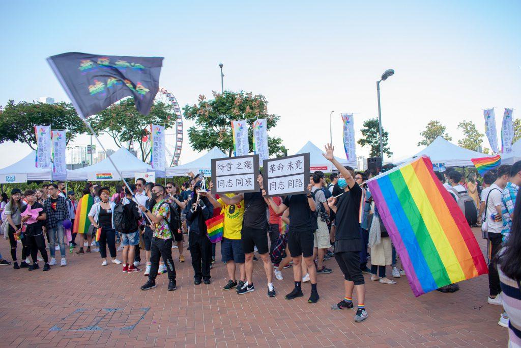 manifestacion por los derechos de las parejas LGTB